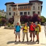 Ángela y amigos peregrinan por Cantabria
