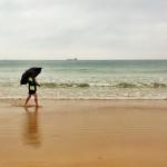 A la playa con paraguas