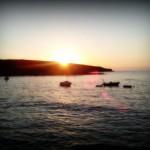 'Atardecer en La Maruca'. Fotografía de La playa de la Maruca antes de cenar. Autor: Rafael Menéndez de Llano
