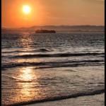 'Amanece en febrero. Foto tomada desde la segunda playa del Sardinero, en un perfecto día del mes de Febrero. Autora: Verónica Fernández