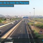 El tráfico de la recta de Parayas