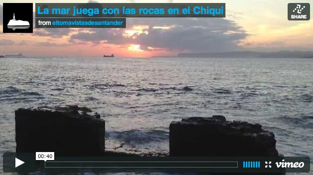 La mar juega con las rocas en el chiqui el tomavistas de for El chiqui santander