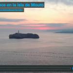 Amanece en la isla de Mouro