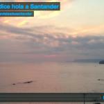 El sol dice hola a Santander