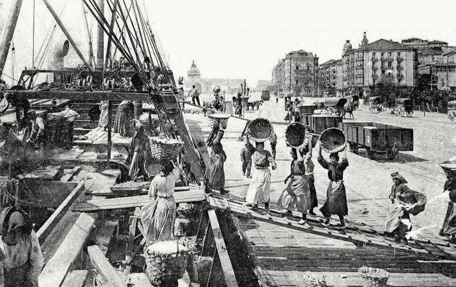 descargando-pescado-en-1910-en-santander