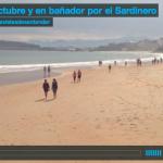 2 de octubre y en bañador por el Sardinero