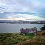 Batería de defensa de Cabo Menor grafiteada