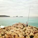 Pesca de jargos en la costa de Liencres