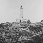 El faro de la isla de Mouro, en pie desde 1857