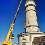 El faro de Cabo Mayor está de obras