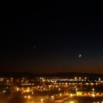 La luna y venus, de charla por Santander