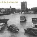 La plaza de las Estaciones en 1964