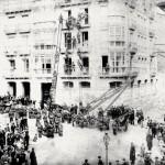Simulacro de incendio en la plaza de Cañadío en 1893