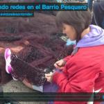 Cosiendo redes en el Barrio Pesquero