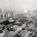 Santander cuando el puerto estaba en pleno centro