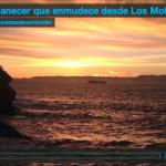 Un amanecer que enmudece desde Los Molinucos