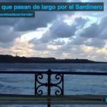 Nubes que pasan de largo por el Sardinero