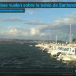 Las nubes vuelan sobre la bahía de Santander