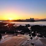 Sale el sol por la isla de la Torre