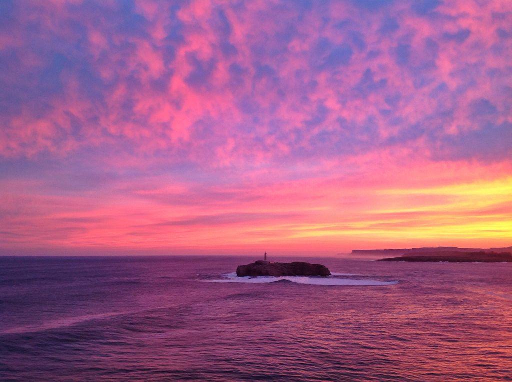 Amaneceres y atardeceres Isla-mouro-amanecer-rosa