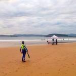 Aprendiendo a competir sobre las olas