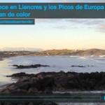 Amanece en Liencres y los Picos de Europa cambian de color
