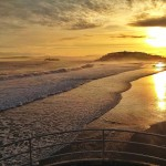 Doble amanecer. Desde el Sardinero. Desde la bahía.