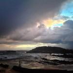 Nubarrones que tiran calderos de lluvia