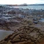 Las arcillas sacan la cabeza en la playa de la Magdalena