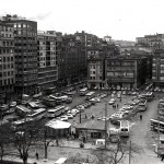La plaza de las Estaciones cuando estaba a cielo abierto