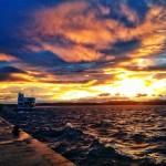 Cielos pintados de sur y bahía más que revuelta