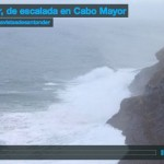 La mar, de escalada en Cabo Mayor