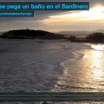 El sol se pega un baño en el Sardinero