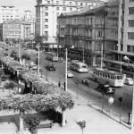 Santander cuando la academia Puente ocupaba la actual plaza del Ayuntamiento