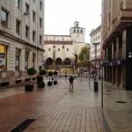 Postales de Santander: De la Porticada al Ayuntamiento un día de lluvia