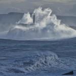 La isla de Mouro envuelta de temporal