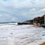 A una hora de la pleamar de una marea viva en el Sardinero