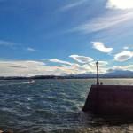 Las nubes y la bahía ya empiezan a marcar sur. Hay alerta roja