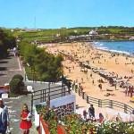 El Sardinero un día de playa cuando en Cueto y Valdenoja había 'praos'