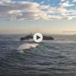 La mar se levanta en la isla de Mouro