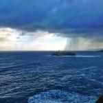 Cortinas de agua sobre la mar