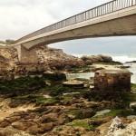 Los pilares del antiguo puente de la Virgen Mar han sucumbido al invierno