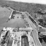 Puertochico y el dique de Gamazo en 1956 a vista de pájaro