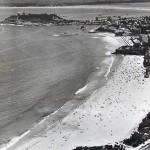 El Sardinero en una vista aérea cuando El Parque y El Cormorán todavía no existían