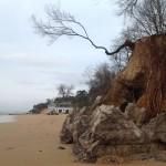 Daños del nuevo temporal: La montaña de Los Peligros se viene abajo