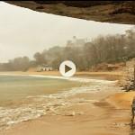Lluvia que cae en forma de lágrima en la bahía de Santander