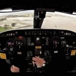 Aterrizaje en Santander desde la mismísima cabina de un avión