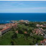 Comillas y su Universidad Pontificia a vista de dron