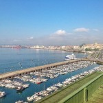La bahía desde un tejado de Castelar