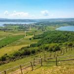 La espectacular panorámica del pantano del Ebro desde el mirador de la ermita de las Nieves